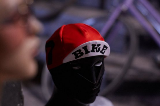 cycling cap red